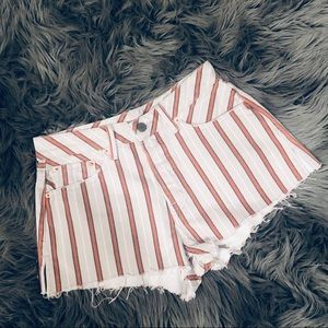 GRLFRND Girlfriend Shorts Denim Cindy Stripe 26